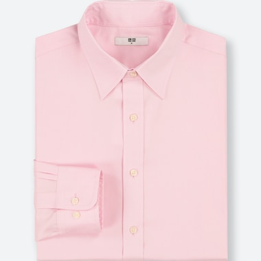 MEN EASY CARE OXFORD REGULAR-FIT LONG-SLEEVE SHIRT (ONLINE EXCLUSIVE), PINK, medium