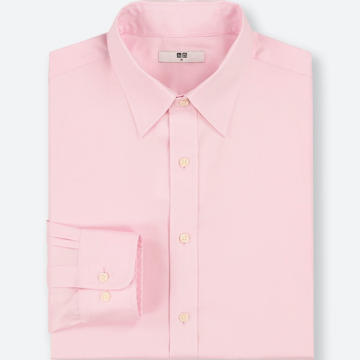 MEN EASY CARE OXFORD REGULAR-FIT LONG-SLEEVE SHIRT (ONLINE EXCLUSIVE), PINK, large