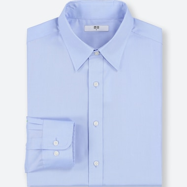 MEN EASY CARE OXFORD REGULAR-FIT LONG-SLEEVE SHIRT (ONLINE EXCLUSIVE), BLUE, medium