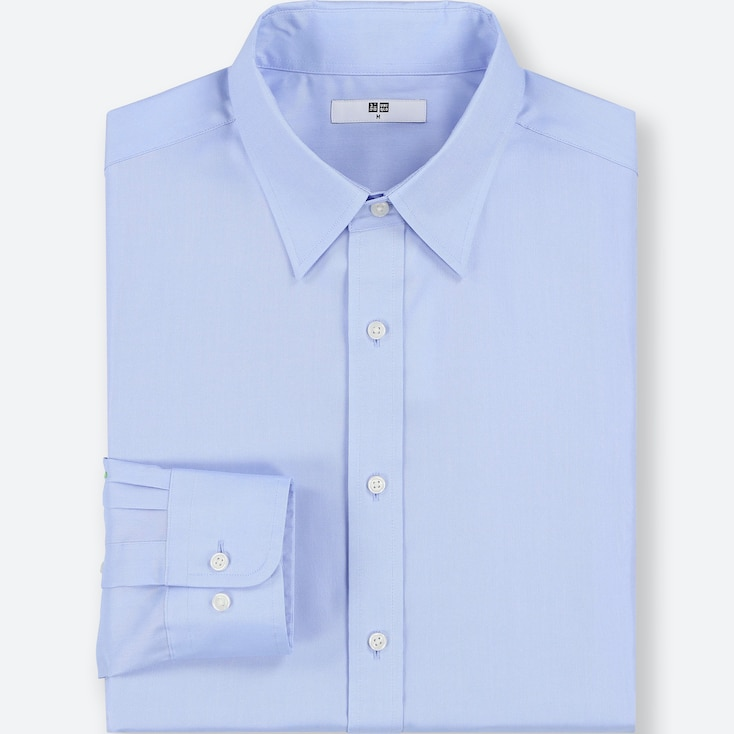 MEN EASY CARE OXFORD REGULAR-FIT LONG-SLEEVE SHIRT (ONLINE EXCLUSIVE), BLUE, large