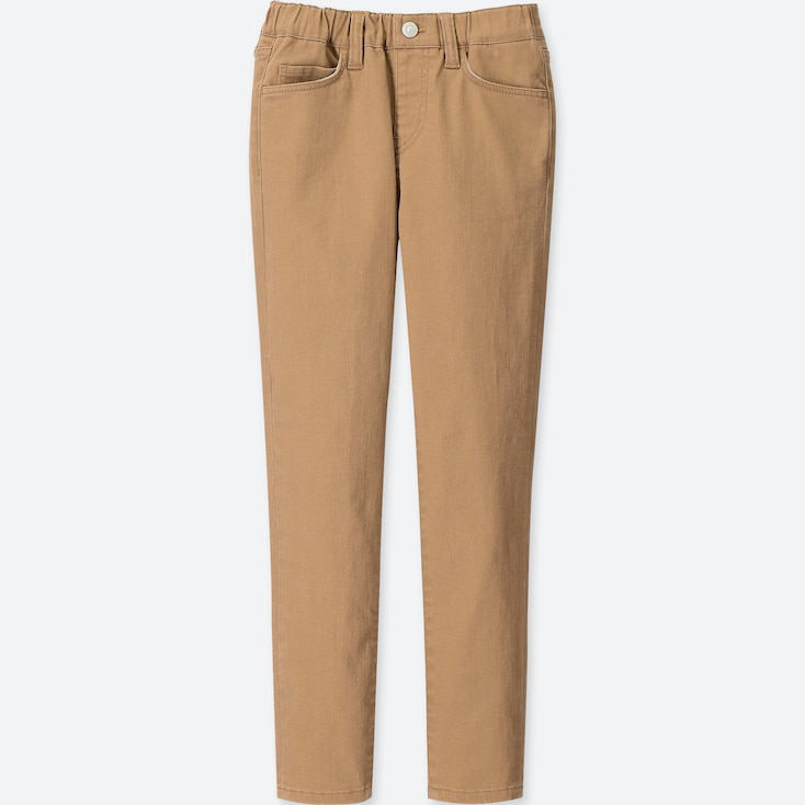BOYS ULTRA STRETCH RELAXED PANTS, BEIGE, large