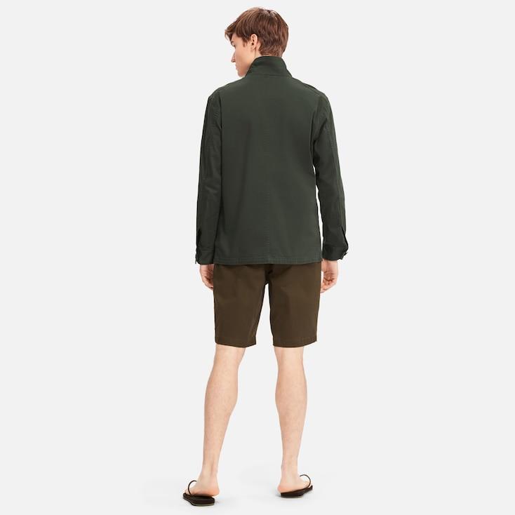 Men Flight Jacket, Gray, Large