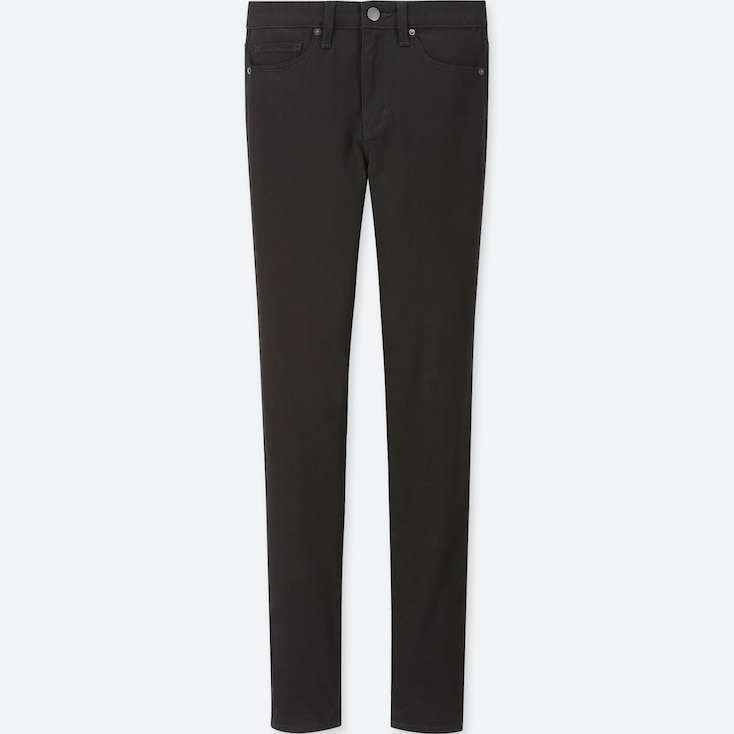 WOMEN EZY SKINNY FIT COLOR JEANS, BLACK, large
