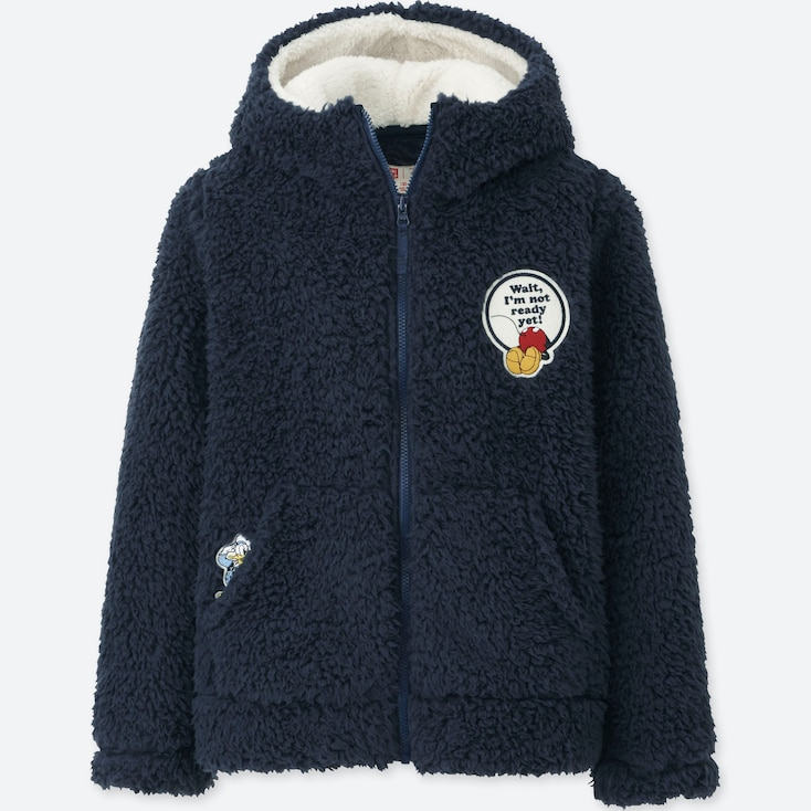 KIDS DISNEY FLEECE PARKA, NAVY, large
