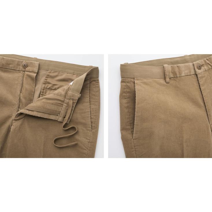 Men Ezy Ankle-Length Pants (Corduroy), Beige, Large