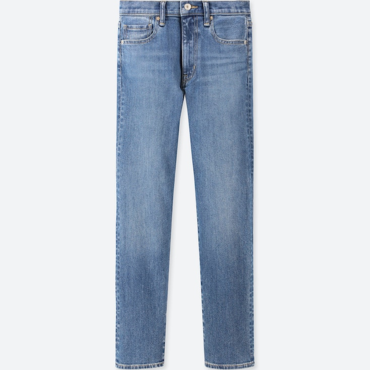 Women High-Rise Straight Jeans, Blue, Large