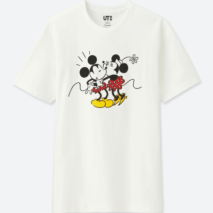 MICKEY ART UT YU NAGABA (SHORT-SLEEVE GRAPHIC T-SHIRT), WHITE, large