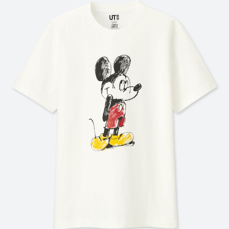 MICKEY ART UT JAMES JARVIS (SHORT-SLEEVE GRAPHIC T-SHIRT), WHITE, large