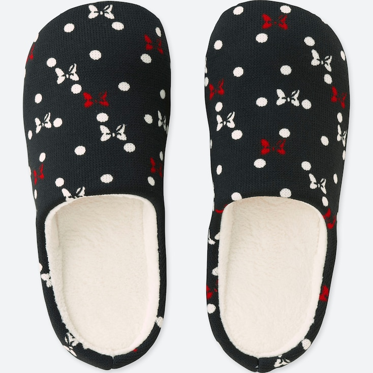 DISNEY HOLIDAY COLLECTION SLIPPERS, BLACK, large