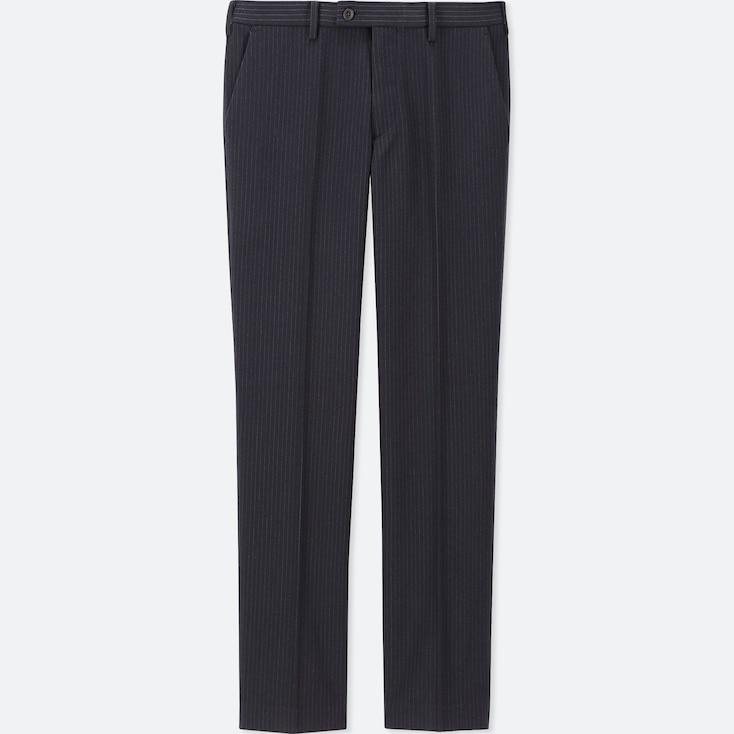 MEN HEATTECH STRETCH SLIM-FIT PANTS, BLUE, large