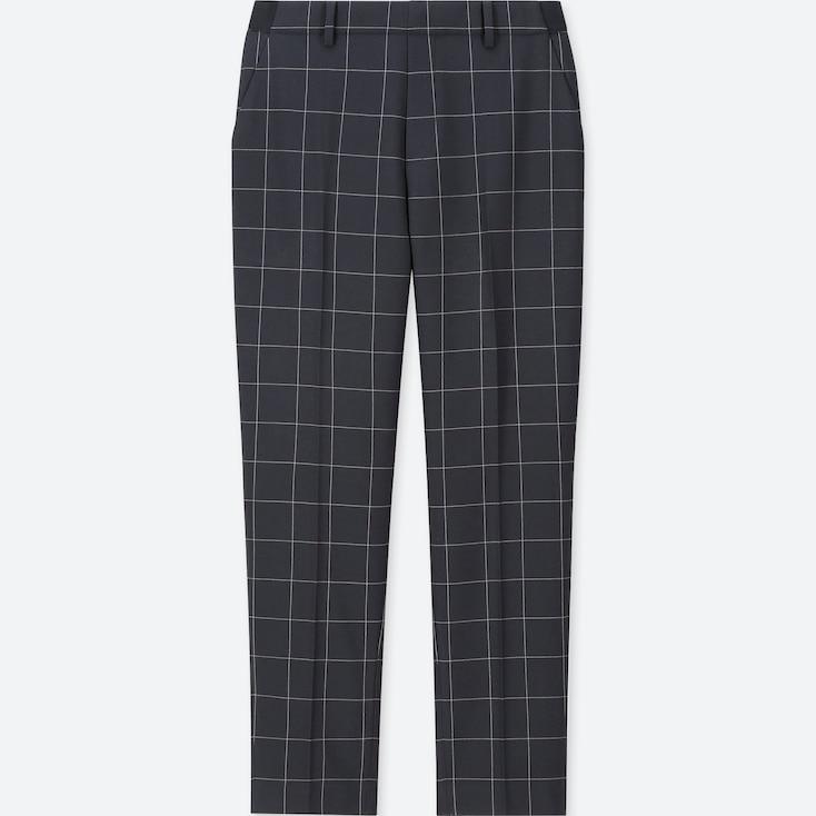 Women Ezy Ankle-Length Pants, Navy, Large