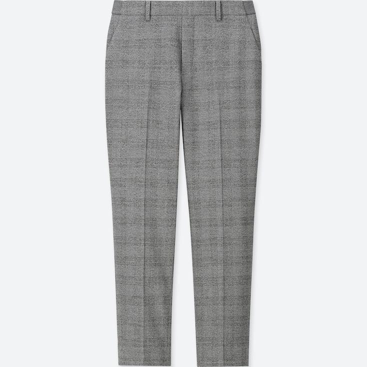 Women Ezy Flannel Ankle-Length Pants (Glen Check), Gray, Large