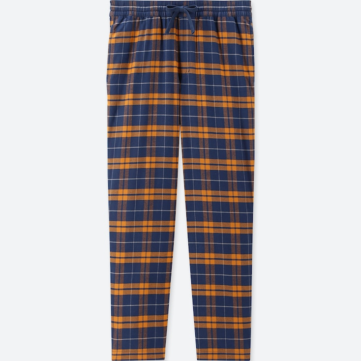 MEN FLANNEL EASY PANTS, YELLOW, large