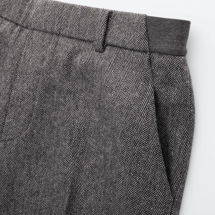 Women Ezy Tweed Ankle-Length Pants (Online Exclusive), Dark Brown, Large