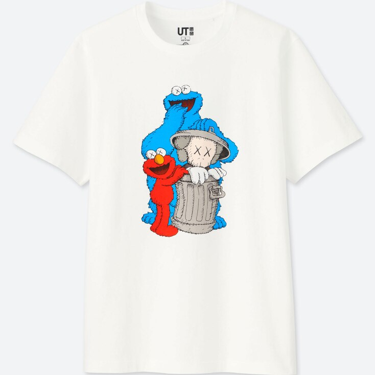 KAWS X SESAME STREET UT (SHORT-SLEEVE GRAPHIC T-SHIRT), WHITE, large