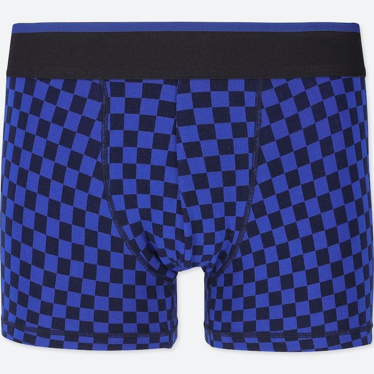MEN SUPIMA® COTTON LOW-RISE BOXER BRIEFS, BLUE, large