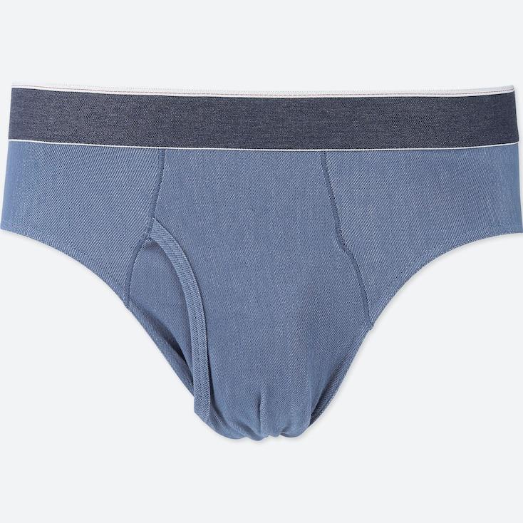MEN SUPIMA® COTTON BRIEFS, BLUE, large