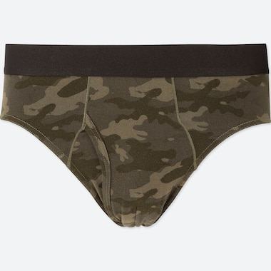 MEN SUPIMA® COTTON BRIEFS, OLIVE, medium