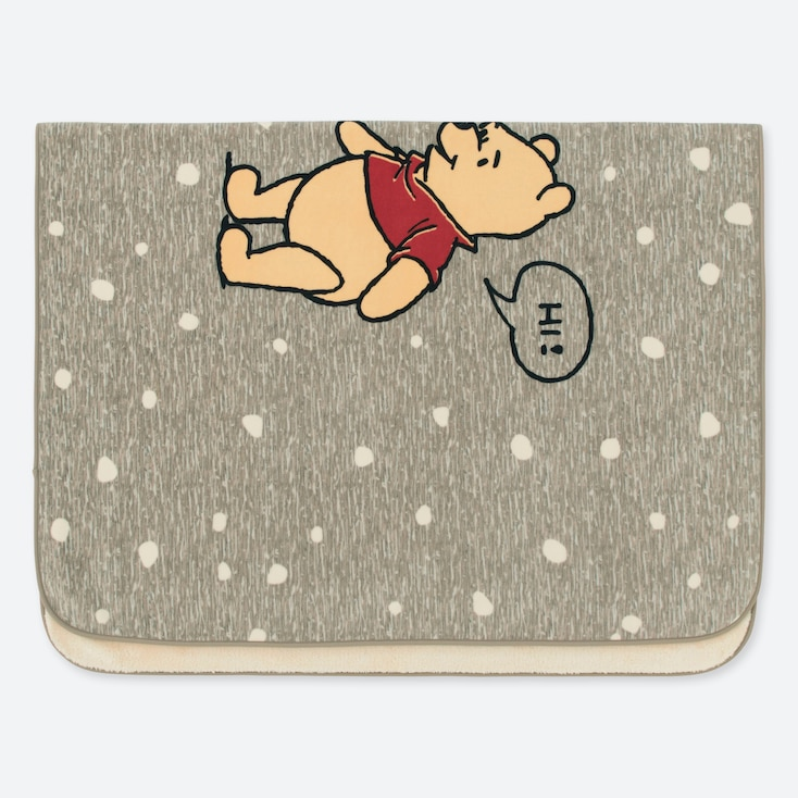 DISNEY HOLIDAY COLLECTION FLEECE BLANKET, GRAY, large