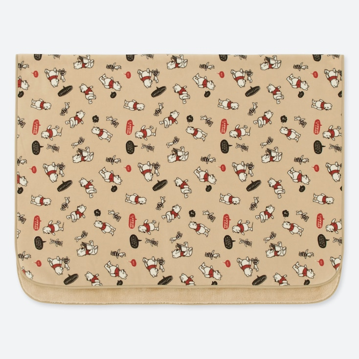 DISNEY HOLIDAY COLLECTION FLEECE BLANKET, BEIGE, large