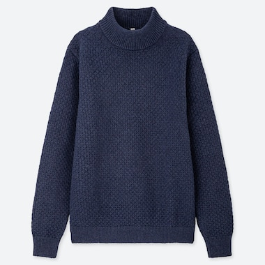 PULL EN MAILLE COL MONTANT HOMME