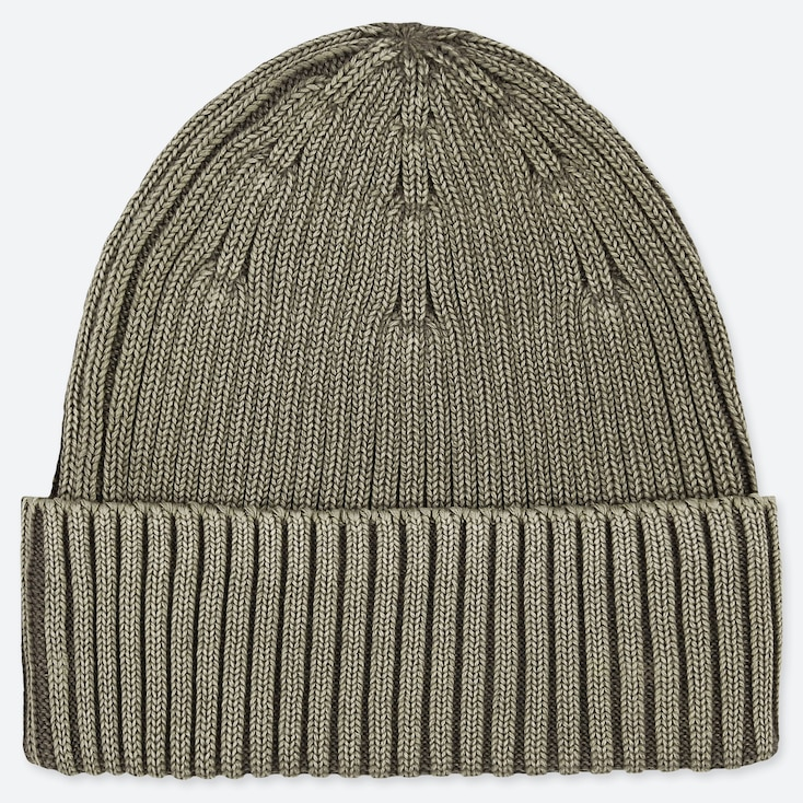 RIBBED BEANIE, GREEN, large