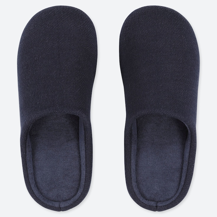 SLIPPERS, NAVY, large