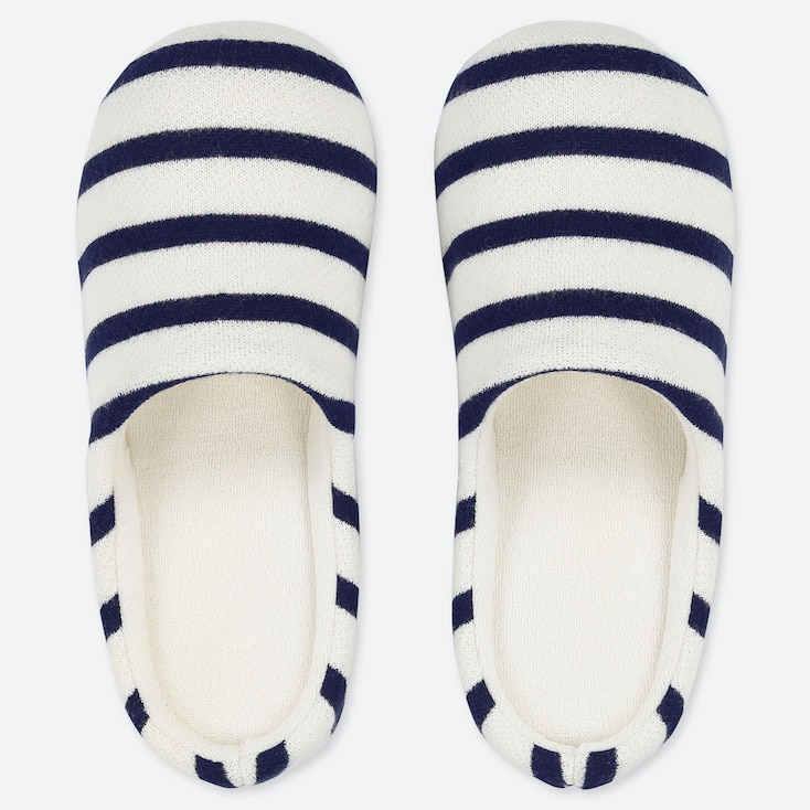PATTERNED SLIPPERS, OFF WHITE, large