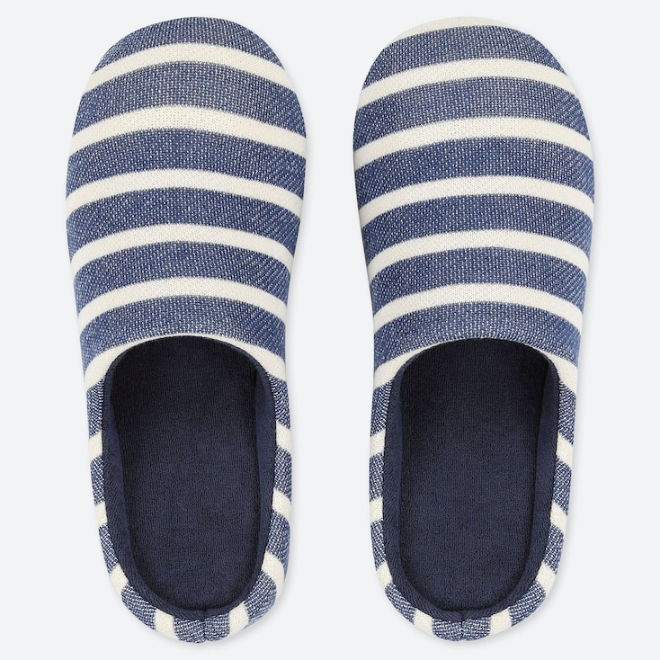 PATTERNED SLIPPERS, BLUE, large