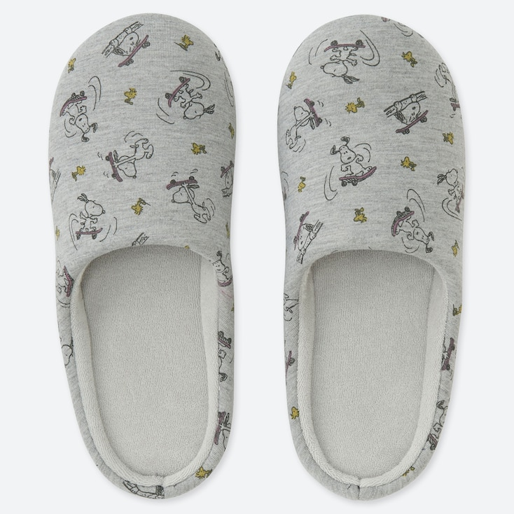 PEANUTS SLIPPERS, GRAY, large