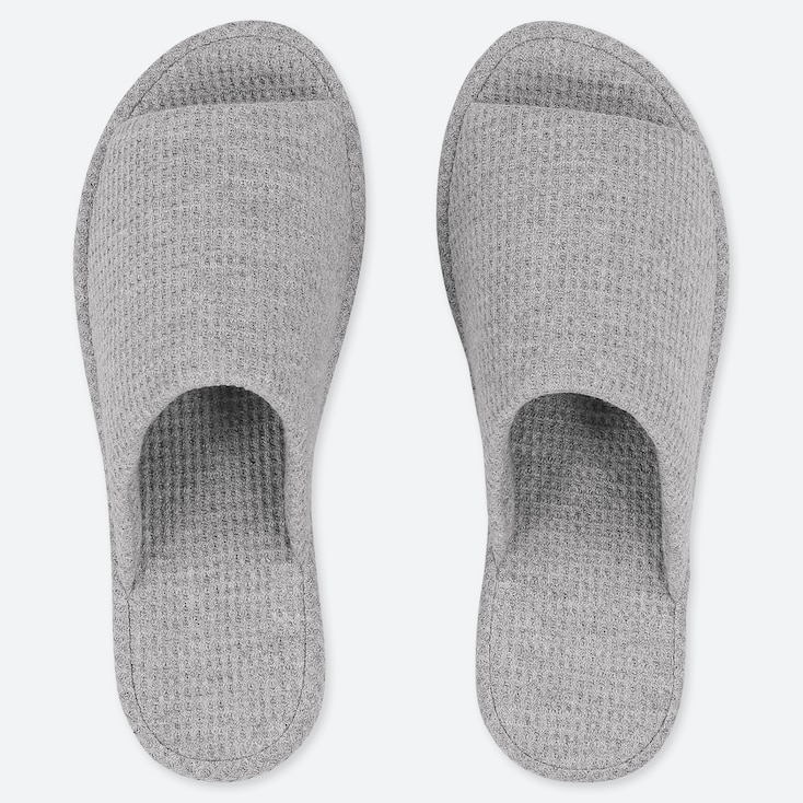 WAFFLE SLIPPERS, GRAY, large