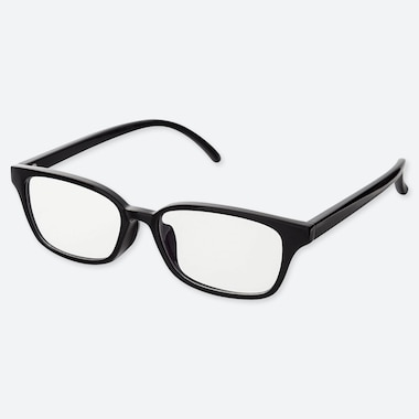 SQUARE CLEAR SUNGLASSES, BLACK, medium