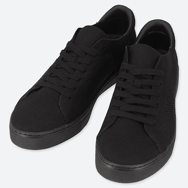 MEN KNIT SNEAKERS, BLACK, medium
