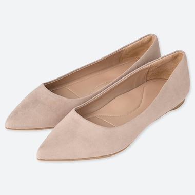 WOMEN POINTED FLAT SHOES, BEIGE, medium