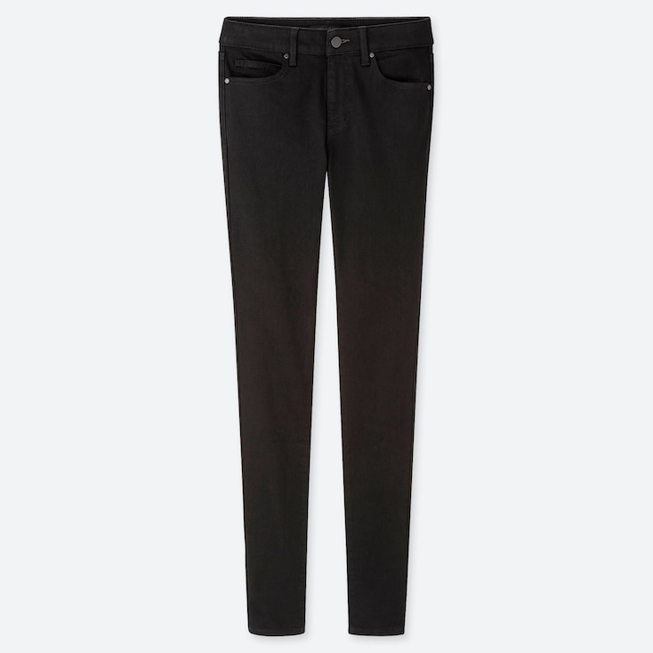 Women Ultra Stretch Jeans, Black, Large