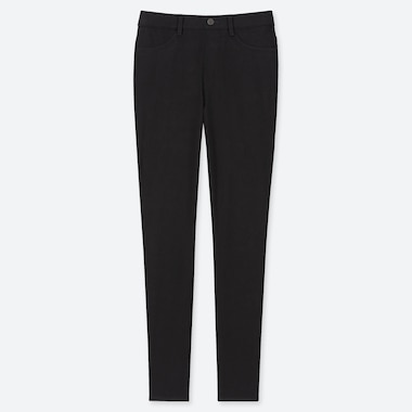 WOMEN ULTRA STRETCH LEGGINGS PANTS, BLACK, medium