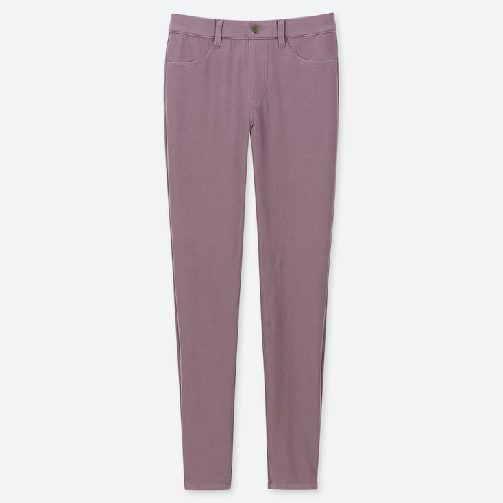 WOMEN ULTRA STRETCH LEGGINGS PANTS, PURPLE, large