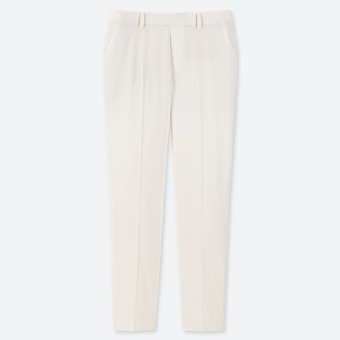 WOMEN EZY ANKLE-LENGTH PANTS, WHITE, medium