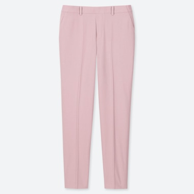 WOMEN EZY ANKLE-LENGTH PANTS, PINK, medium