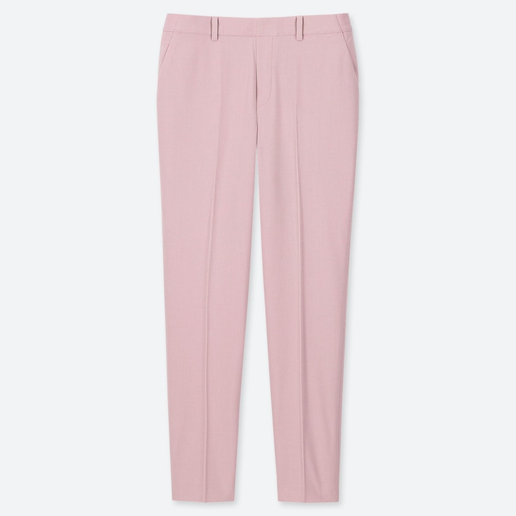 WOMEN EZY ANKLE-LENGTH PANTS, PINK, large