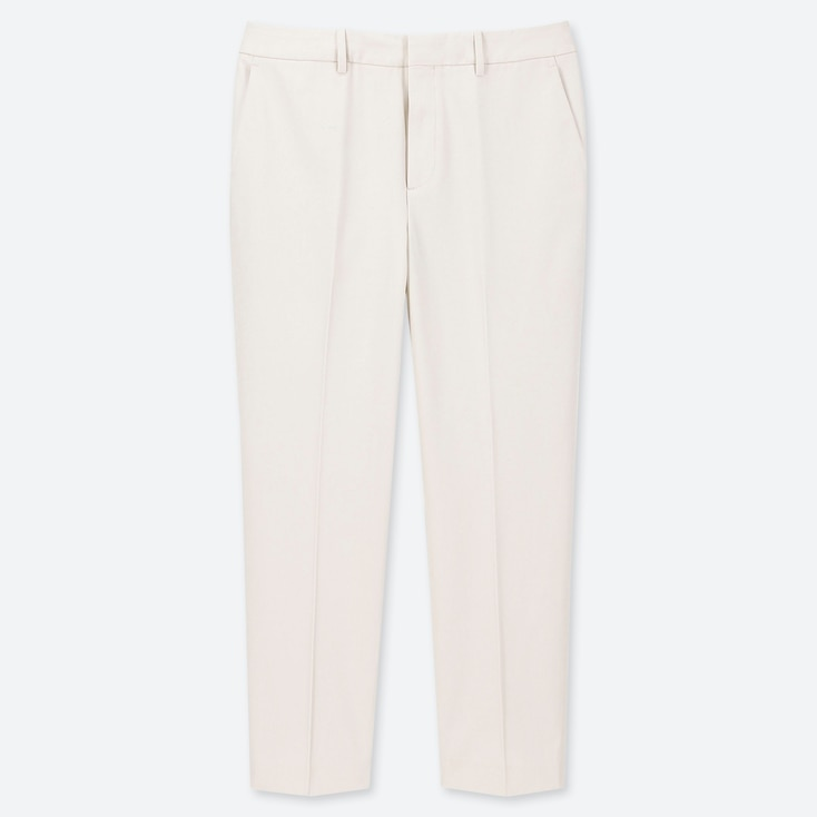 WOMEN EASY CARE STRETCH CROPPED PANTS (ONLINE EXCLUSIVE), OFF WHITE, large