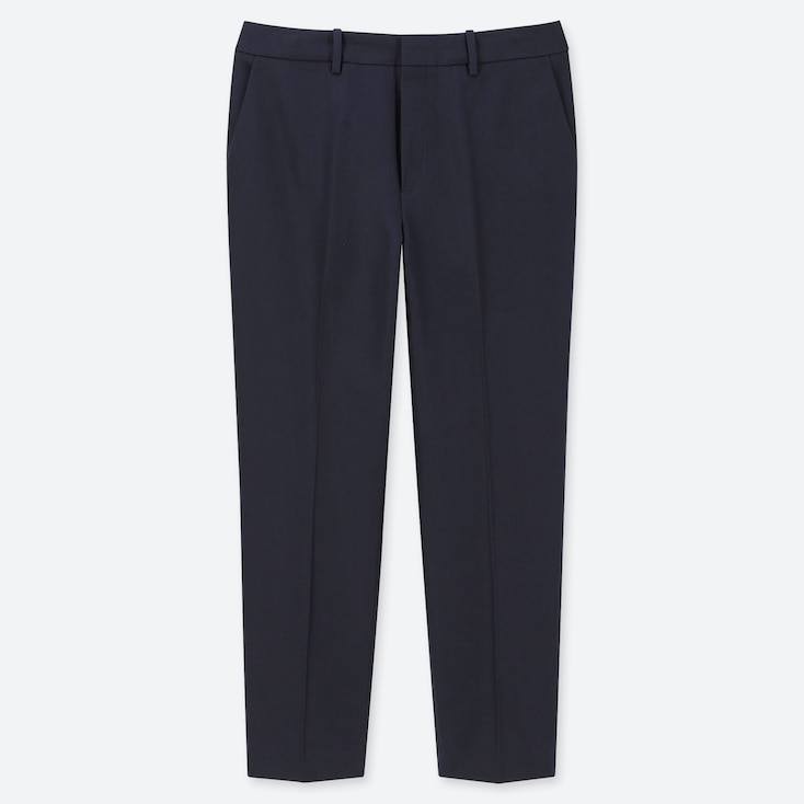 WOMEN EASY CARE STRETCH CROPPED PANTS (ONLINE EXCLUSIVE), NAVY, large