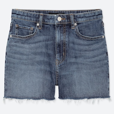 SHORTS DENIM SLIM VITA ALTA DONNA