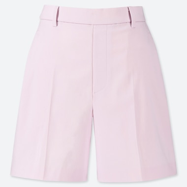 WOMEN SATIN SHORTS (ONLINE EXCLUSIVE), PINK, medium