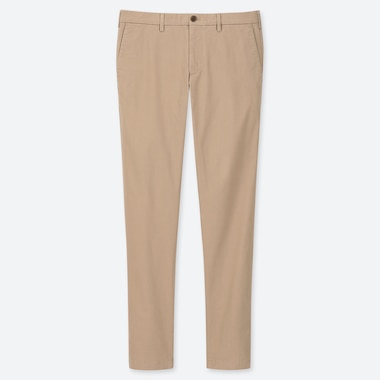 MEN SLIM-FIT CHINO FLAT-FRONT PANTS, BEIGE, medium