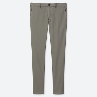 MEN SLIM-FIT CHINO FLAT-FRONT PANTS, OLIVE, medium