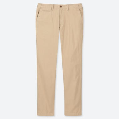 MEN VINTAGE REGULAR-FIT CHINO FLAT-FRONT PANTS, BEIGE, medium