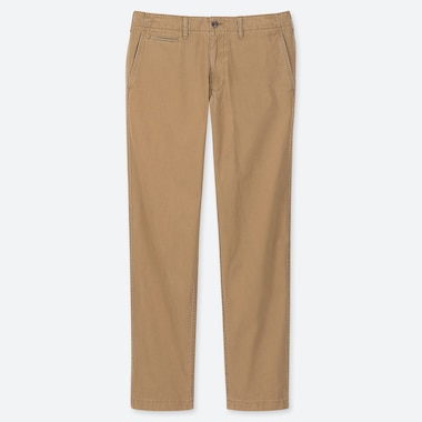 PANTALON CHINO VINTAGE COUPE REGULAR HOMME (L34)