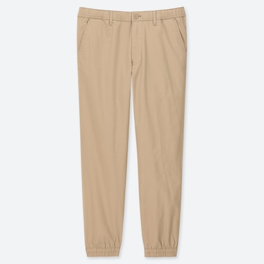 MEN PULL-ON COTTON JOGGER PANTS, BEIGE, medium