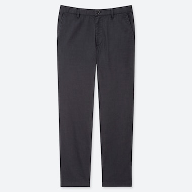MEN COTTON LINEN RELAXED PANTS, DARK GRAY, medium